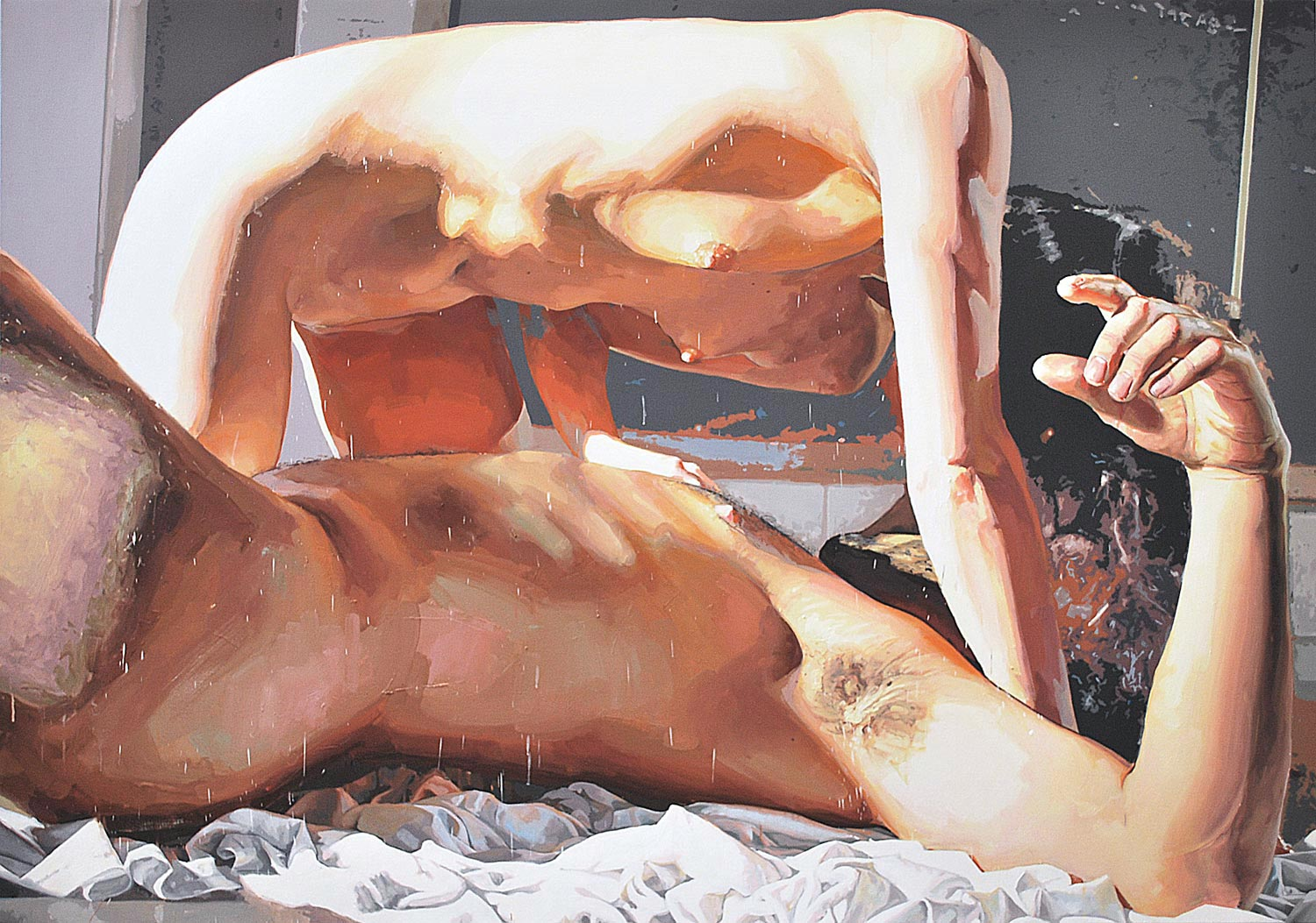 ICARUS II, 2013, oil on linen, 56 x 80 inches (147.32 x 203.2 cm).