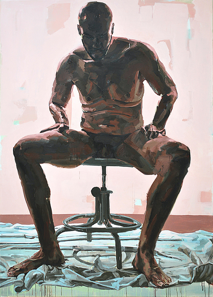 INTENTION, 2009, oil on canvas, 84 x 60 inches (213.4 x 152.4 cm).