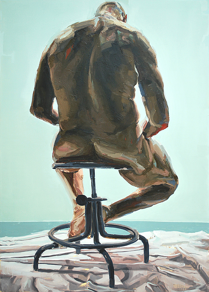 PAIDEIA, 2009, oil on canvas, 84 x 60 inches (213.4 x 152.4 cm).