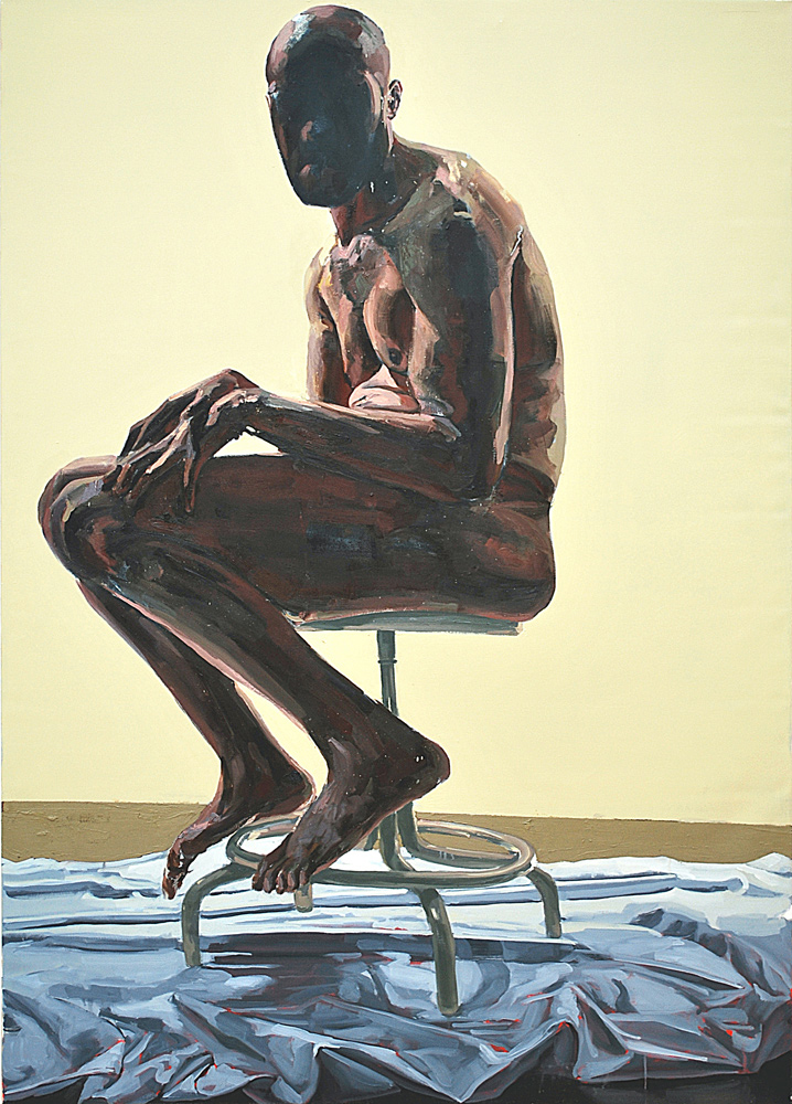 RECOGNITION, 2009, oil on canvas, 84 x 60 inches (213.4 x 152.4 cm).