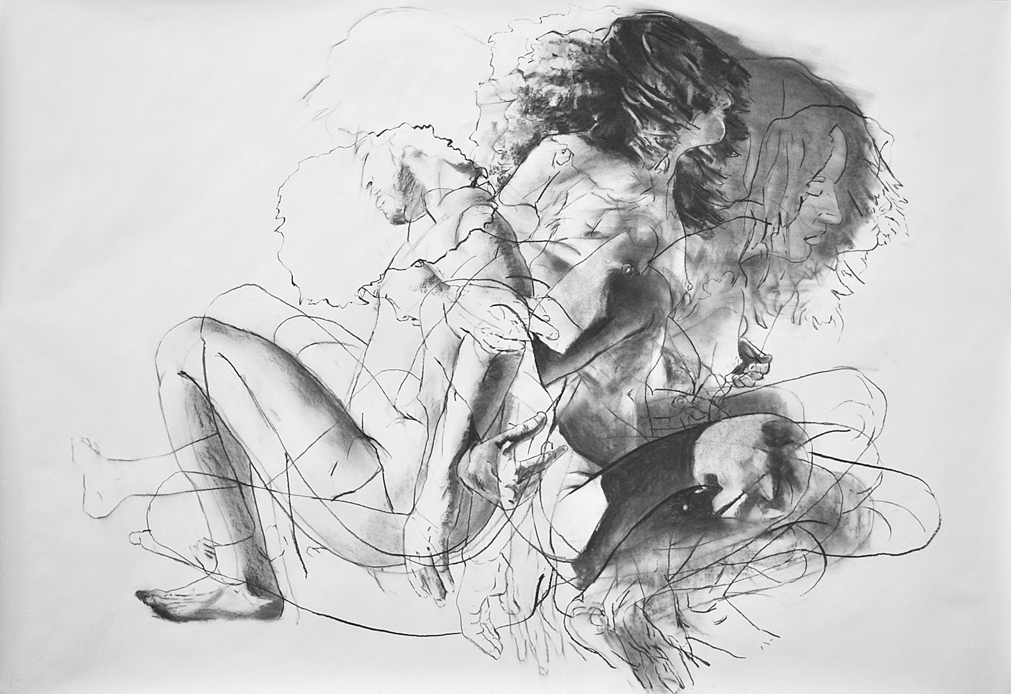UNTITLED (STUDY), 2013, charcoal on paper, 42 x 60 inches (106.7 x 152.4 cm).