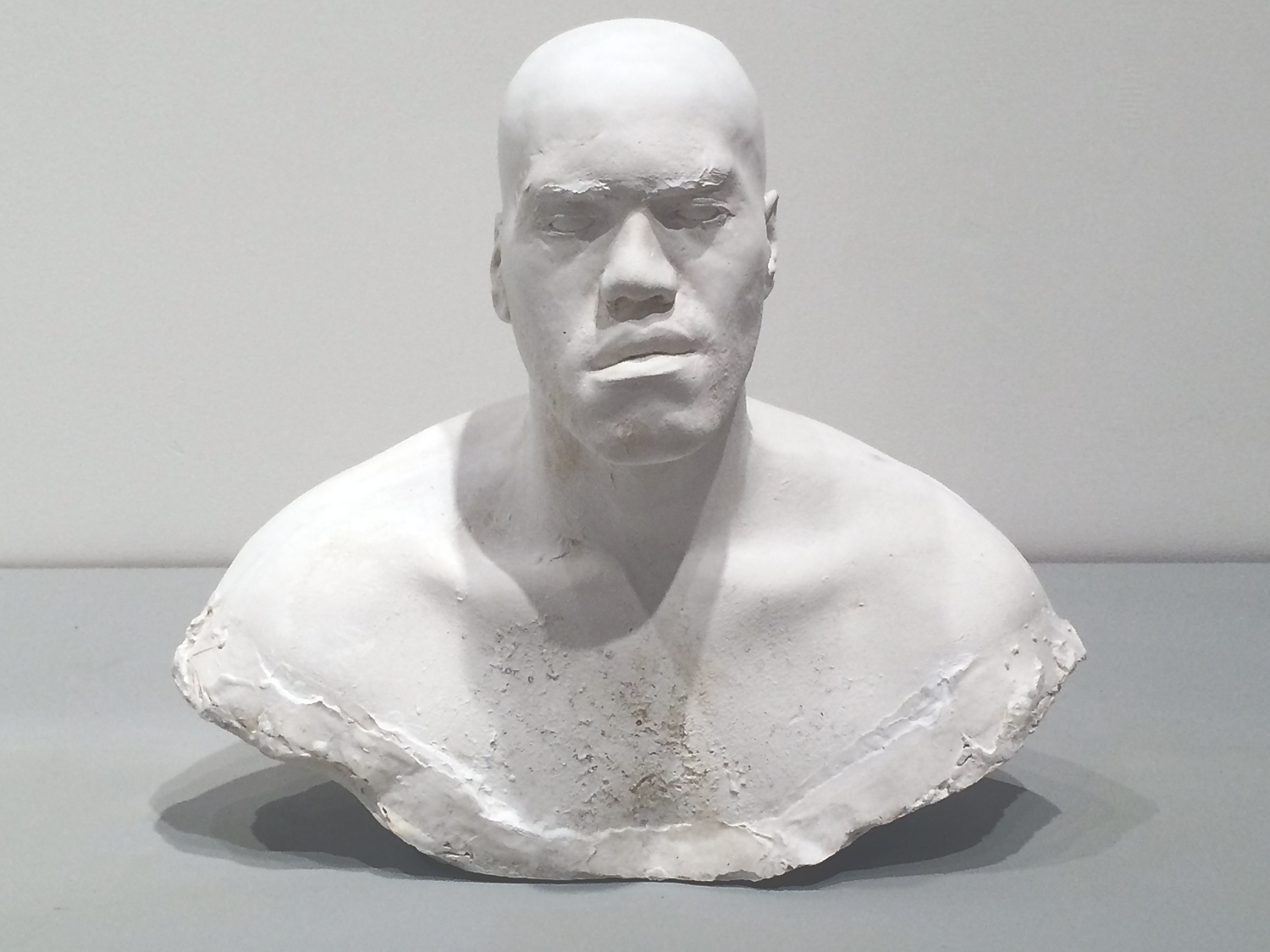 BUST OF AN AMERICAN MAN (EARLY 21ST CENTURY), 2011 - 13, plaster cast, sculpted, wax.