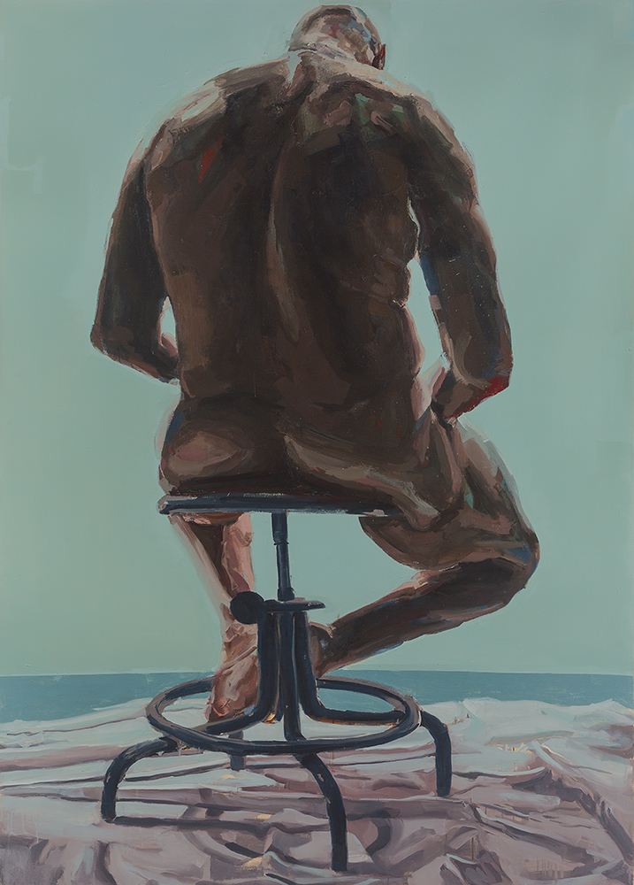 PAIDEIA, 2009, oil on canvas, 84 x 60 inches (213.4 x 152.4 cm).