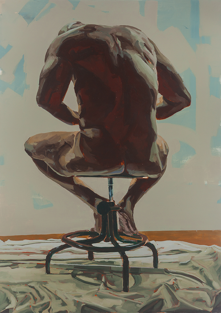 ADJUSTMENT, 2009, oil on canvas, 84 x 60 inches (213.4 x 152.4 cm).