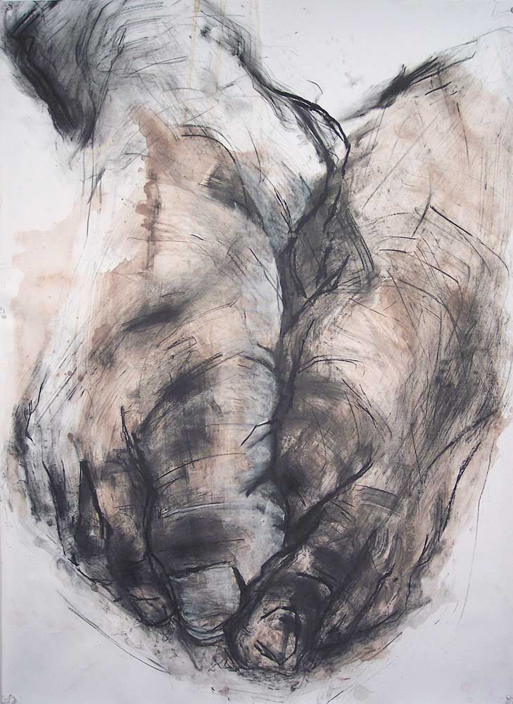 OEDIPUS DRAWING 2, 2007, charcoal and oil on paper, 42 x 30 inches (106.7 x 76.2 cm).