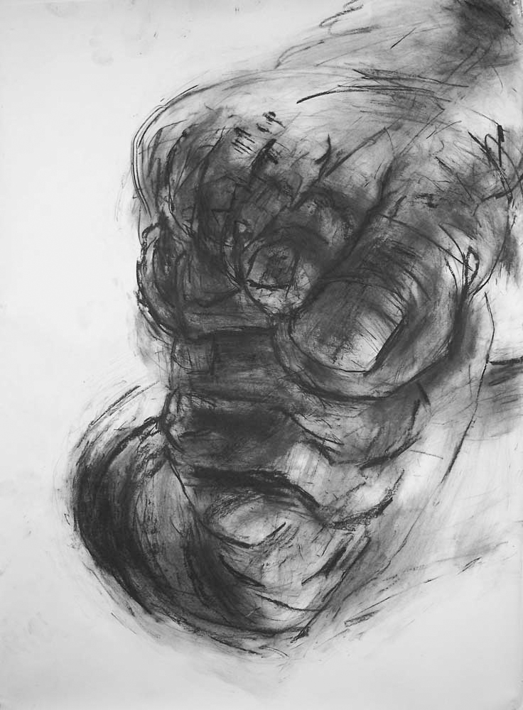 OEDIPUS DRAWING 4, 2007, charcoal on paper, 42 x 30 inches (106.7 x 76.2 cm).