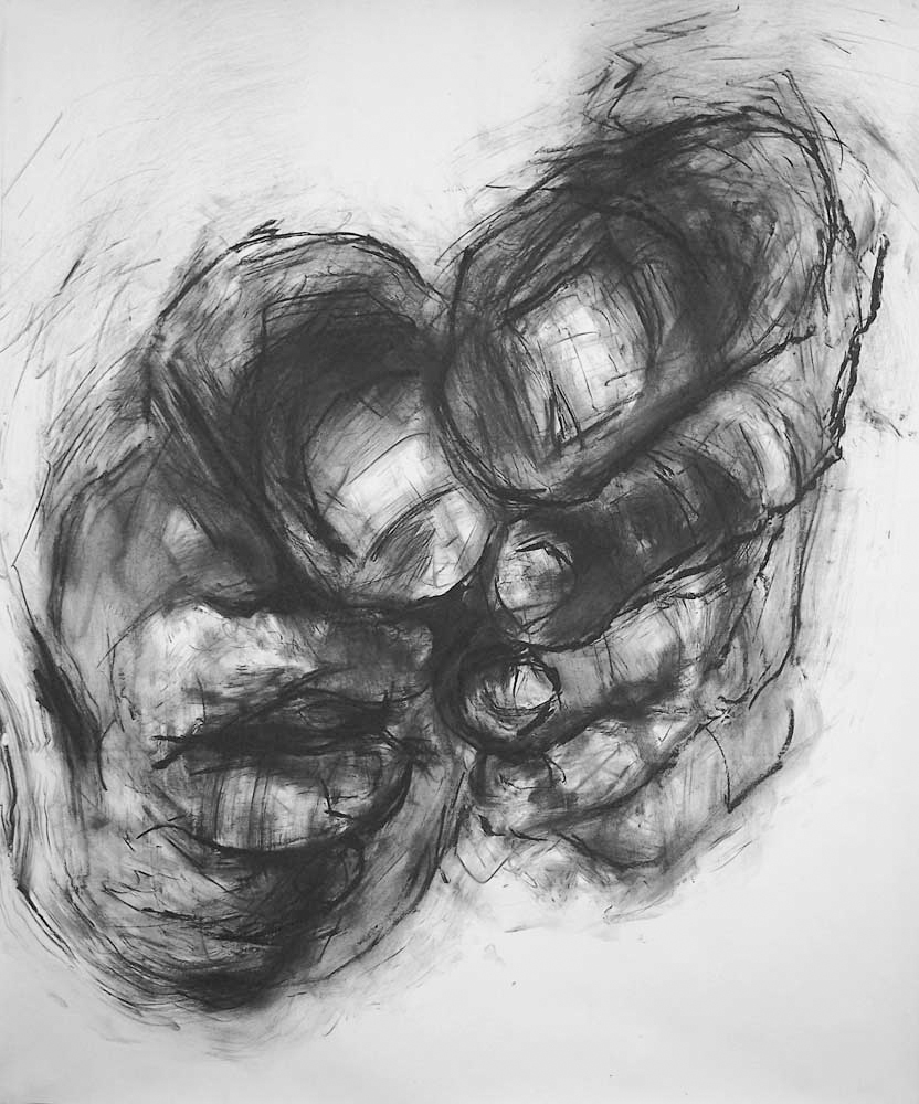 OEDIPUS DRAWING 8, 2007, charcoal on paper, 42 x 35 inches (106.7 x 88.9 cm).