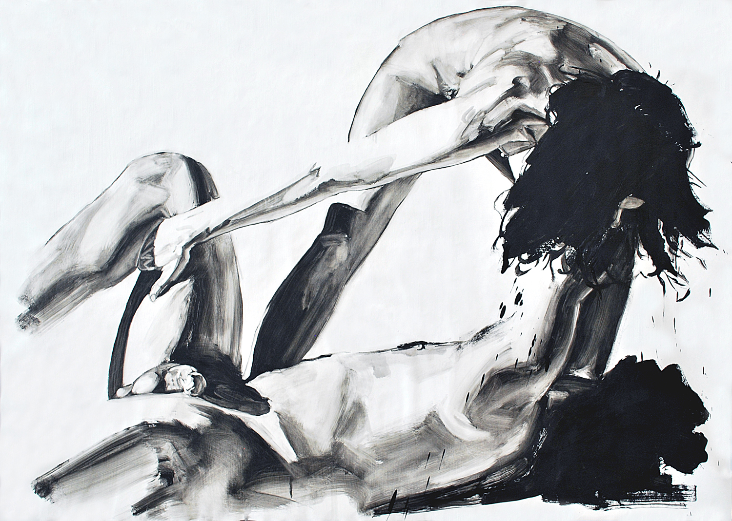 SLANT, 2015, oil on paper, 30 x 42 inches (72.6 x 106.7 cm).