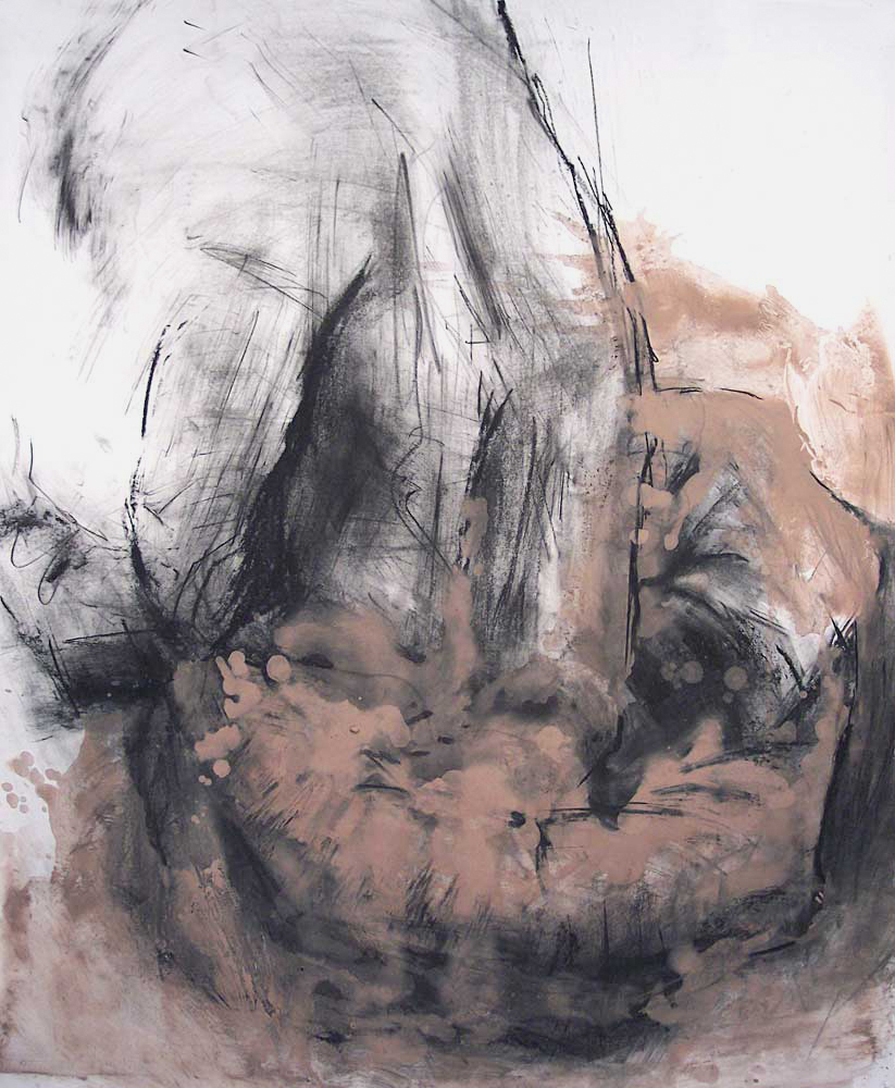 UNTITLED (OEDIPUS DRAWING 5), 2007, charcoal and oil on paper, 42 x 35 inches (106.7 x 88.9 cm).