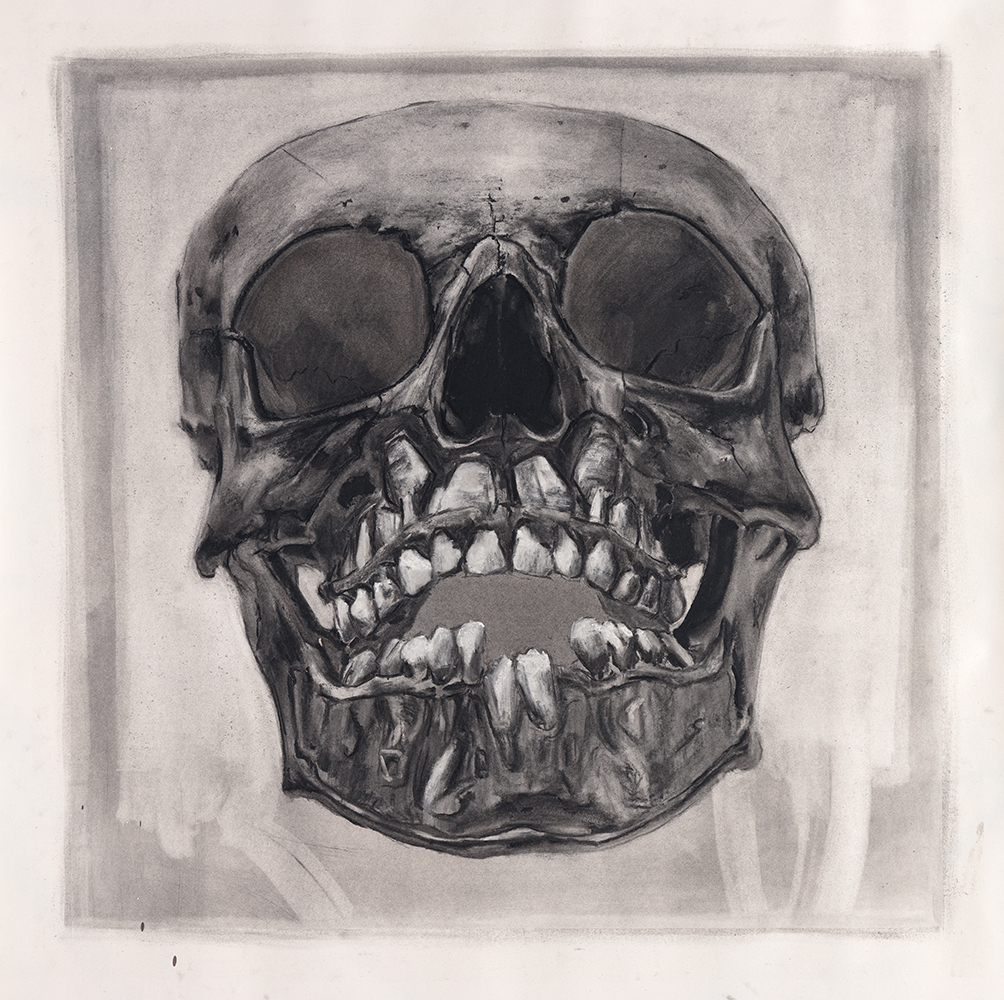 STILLBORN DRAWING, 2017, charcoal on paper, 33 x 33 inches (83.8 x 83.8 cm).